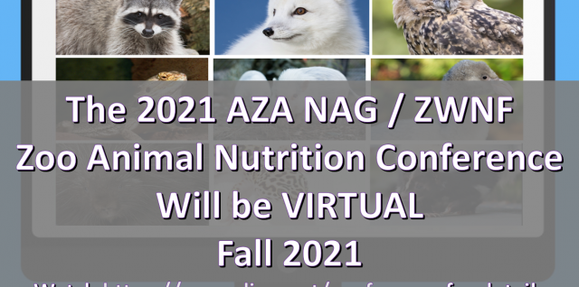Breaking News: 2021 NAG/ZWNF Conference will be VIRTUAL